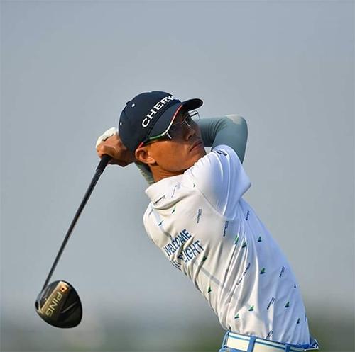 Trương Đình Hùng  golfer bị loại  là một trong chín golfer nghiệp dư dự giải. Ảnh: VGM.