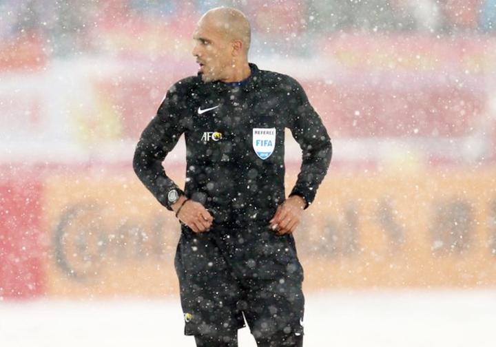 Ahmed Al-Kaf trong trận chung kết U23 châu Á giữa Việt Nam và Uzbekistan hồi đầu năm 2018. Ảnh: AFC.