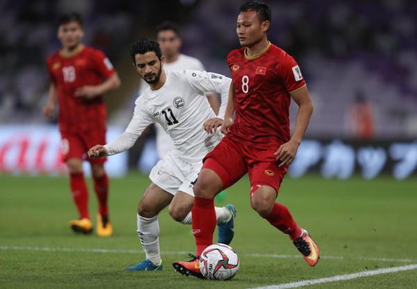 Yemen (áo trắng) không dễ bị vỡ trận. Ảnh: AFC.