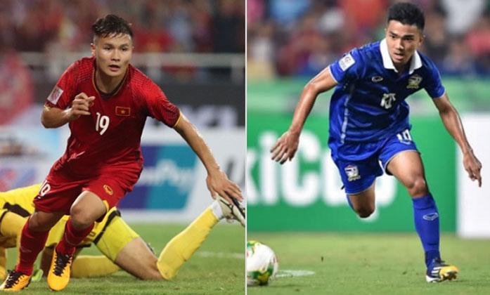 Quang Hải và Chanathip là hai ngôi sao sáng nhất của Việt Nam và Thái Lan.