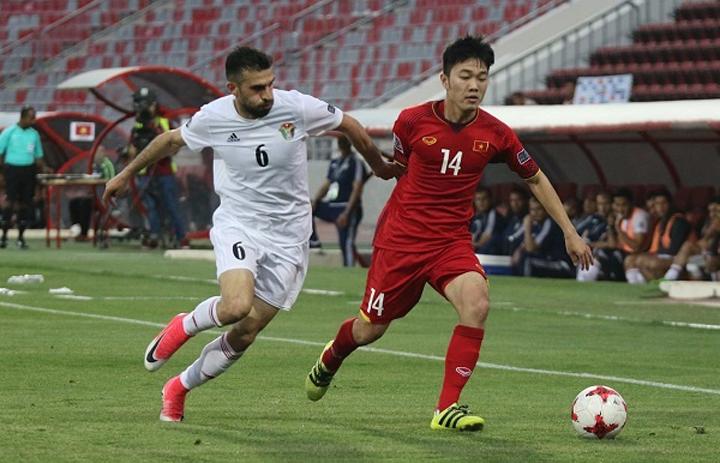 Việt Nam hòa Jordan 1-1 ngay tại sân nhà của đối thủ ngày 27/3/2018.