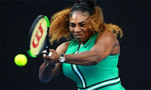 Serena đang quyết tâm vô địchAustralia Mở rộng để cân bằng kỷ lục 24 Grand Slam của Margaret Court. Ảnh: Sky.