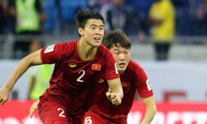 Duy Mạnh vỡ oà cảm xúc khi Việt Nam vượt qua Jordan ở loạt sút luân lưu. Ảnh: Anh Khoa.