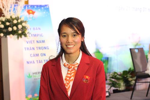 Tạ Thanh Huyền, một trong 4 thành viên đội Rowing hạng nhẹ Việt Nam giành được huy chương vàng.