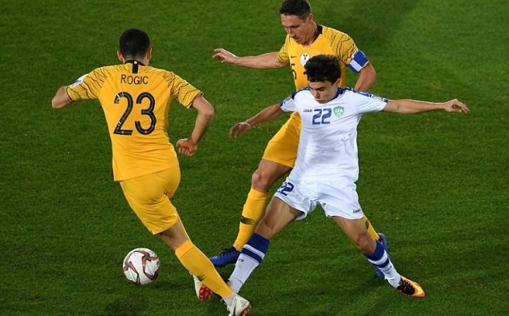 Australia có trận đấu khó khăn nhưng cho thấy bản lĩnh cao hơn đối thủ ở loạt luân lưu. Ảnh: AFC.