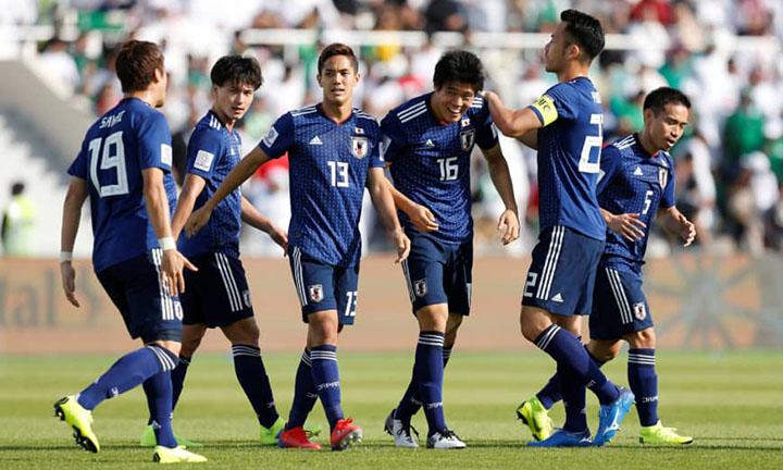 Tomiyasu (số 16) ghi bàn duy nhất giúp Nhật Bản hạ Ả-rập Xê-ut 1-0 tối 21/1. Ảnh: AFC.