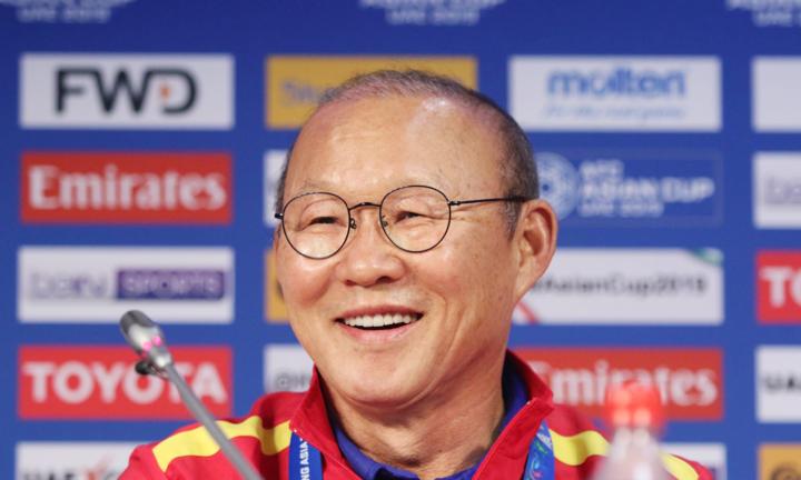 HLV Park Hang-seo tự tin trước cuộc gặp Nhật Bản vào lúc 20h tối mai 24/1. Ảnh: Anh Khoa.
