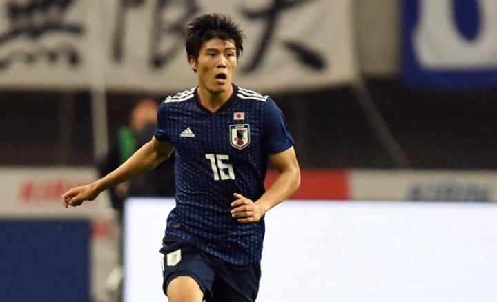 Trung vệ Tomiyasu mới 20 tuổi. Anh từng dự U20 World Cup 2017 và mới được triệu tập vào đội tuyển Nhật Bản từ sau World Cup 2018. Ảnh: AP.