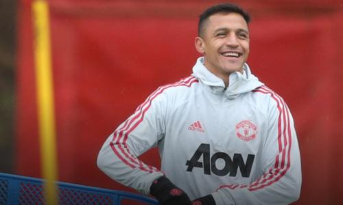 Sanchez sẽ lần đầu thi đấu tại Emirates trong màu áo Man Utd. Ảnh: MUFC.