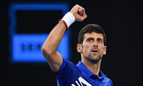 Djokovic trở thành tay vợt vô địch Australia Mở rộng nhiềunhất, với bảy lần đăng quang. Ảnh: Reuters.