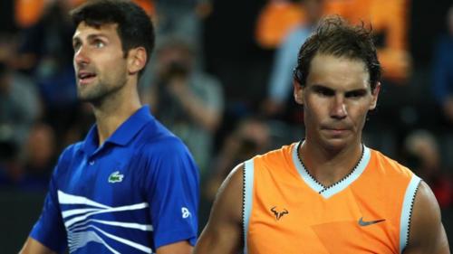 Djokovic chỉ mắc chín lỗi tự đánh hỏng trong trận chung kết Australia Mở rộng với Nadal. Ảnh:Sky.