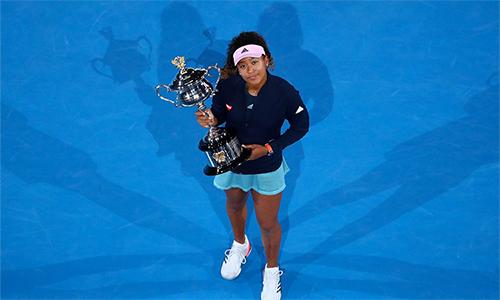 Ở tuổi 21, Naomi Osaka trở thành tay vợt châu Á đầu tiên leo lên vị trí số một bảng thứ bậc đơn nữ. Ảnh: Fox Sports.
