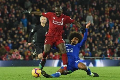 Liverpool khởi đầu tốt nhưng không thể đánh bại Leicester. Ảnh:AFP.