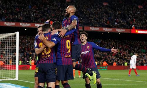 Barca có thêm một chiến thắng đi vào lịch sử. Ảnh: Reuters