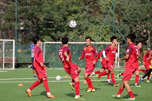 Đội tuyển Việt Nam tích cực tập luyện cho giải U22 Đông Nam Á.