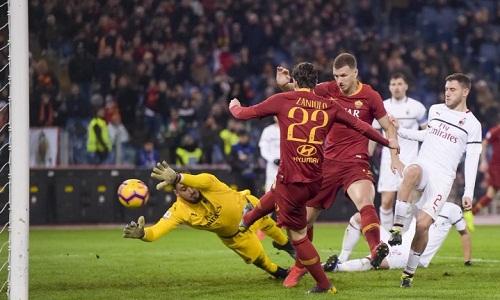 Bàn thắng của Zaniolo giúp Roma có một điểm nhưng chừng đó không đủ để họ lọt vào top bốn. Ảnh: AFP.