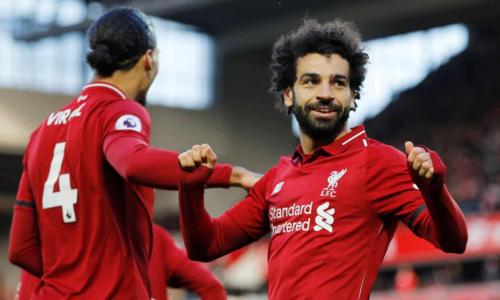 Salah ghi bàn thắng ấn định tỷ số cho Liverpool. Ảnh:Reuters.
