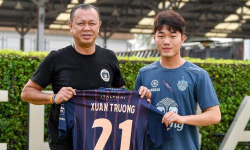 Khoác áo Buriram United là lần thứ hai Xuân Trường xuất ngoại sau hai năm thi đấu ở giải nhà nghề Hàn Quốc.