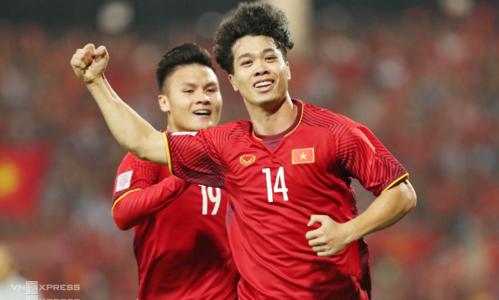 Sau một năm toả sáng trong các màu áo đội tuyển quốc gia, Công Phượng lần thứ hai ra nước ngoài thi đấu. Ảnh: Đức Đồng.