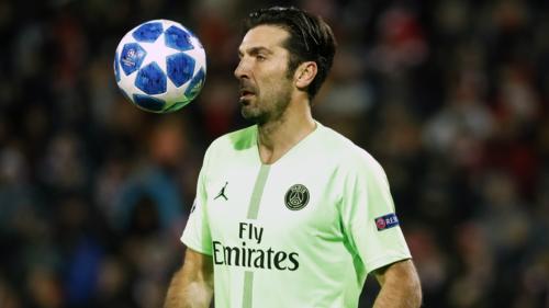 Buffon gặp thách thức lớn khi trên đường chinh phục danh hiệu Champions League đầu tiên trong sự nghiệp. Ảnh:AFP.