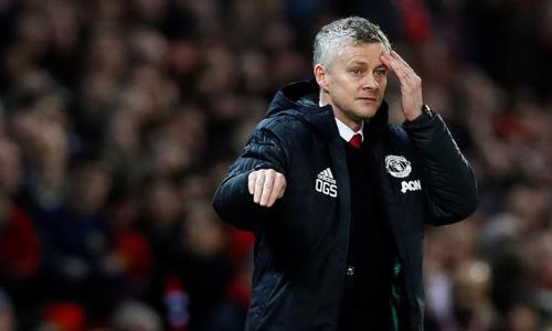 Solskjaer nhận trận thua đầu tiên khi dẫn dắt Man Utd. Ảnh:AFP.