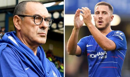 Sự ủng hộ của ngôi sao lớn như Hazard là điều cần thiết cho HLV Sarri ở thời điểm hiện tại. Ảnh: AFP.