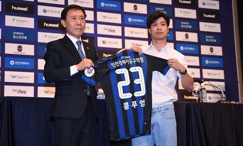 Tại CLB mới, Công Phượng mặc áo số 23.