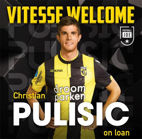 Pulisic bị trêu là sẽ sớm được Chelsea cho Vitesse mượn. Ảnh: Twitter/@FootballJOE.
