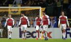 Arsenal thua trận lượt đi vòng 1/16 Europa League