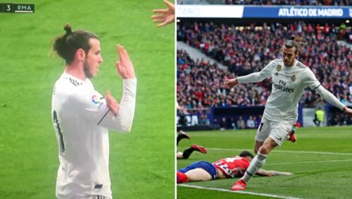 Hành vi phản cảm sau khi ghi bàn của Bale.