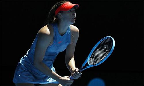 Sharapova mới thi đấu 61 trận kể từ khi trở lại sau án phạt doping năm 2017. Ảnh: Reuters.