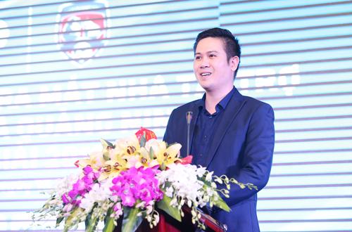 Chủ tịch Phạm Văn Tam phát biểu tại buổi lễ. Ảnh: Lâm Thỏa