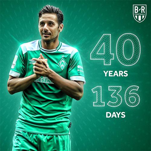 Pizarro giống như một cây trường sinh ở Bundesliga, với 19 năm chinh chiến.