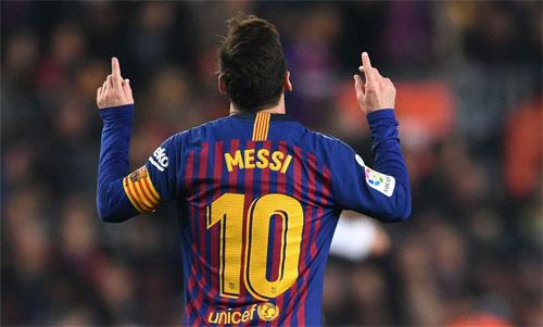 Messi đều đặn ghi bàn 11 năm qua, bất kể Barca trải qua nhiều đời HLV và chơi với phong độ như thế nào. Ảnh: Reuters