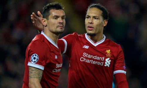 Lovren và Van Dijk vắng mặt sẽ là tổn thất lớn cho Liverpool. Ảnh:Reuters.