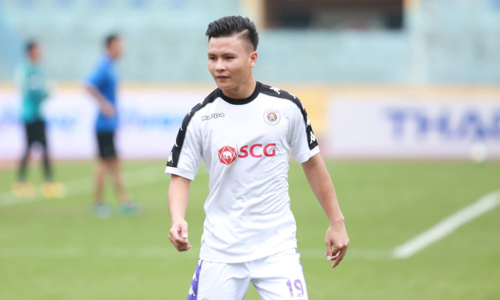Quang Hải được HLV Chu Đình Nghiêm cho nghỉ trận Siêu Cup Quốc gia gặp Bình Dương hôm 16/2 dưỡng sức cho trận gặp Sơn Đông. Ảnh: Xuân Bình.