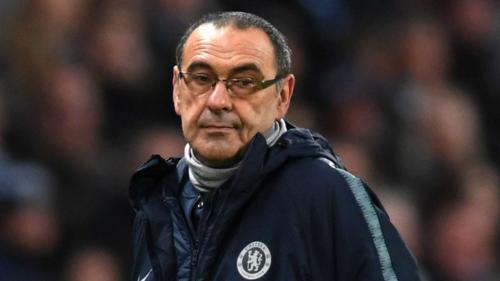 Sarri có nguy cơ bị sa thải sớm dù chưa hết năm đầu dẫn dắt Chelsea. Ảnh:AFP.