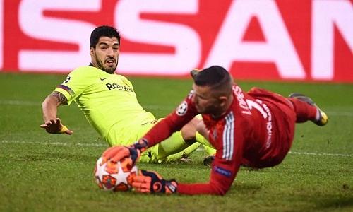 Suarez không ghi bàn trên sân khách tại Champions League trong ba năm rưỡi. Ảnh: AFP.