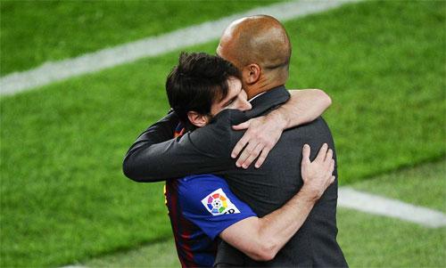 Pep từng rất thành công khi còn dẫn dắt Barca. Ảnh: Reuters