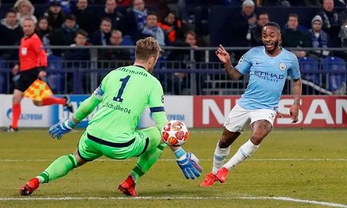 Sterling ghi bàn, mang về chiến thắng cho Man City ở phút cuối của hiệp hai. Ảnh: Reuters.