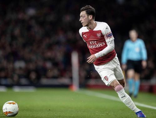 Ozil trở lại sau thời gian dài vắng mặt trong đội hình Arsenal. Ảnh:AFP.