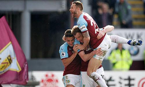 Niềm vui chiến thắng của Burnley. Ảnh: AP.