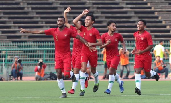 Cầu thủ Indonesia mừng bàn thắng vào lưới Việt Nam. Ảnh: Đức Đồng.