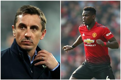 Neville muốn Pogba duy trì sự ổn định và thể hiện sự cam kết với sân Old Trafford. Ảnh:AFP.