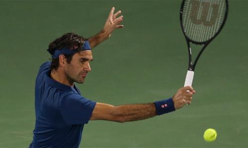 Federer đang tìm kiếm danh hiệu ATP thứ 100 trong sự nghiệp. Ảnh: AP.