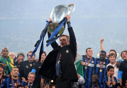 Mourinho lên ngôi ở Champions League với Inter năm 2010. Ảnh:Reuters.