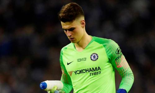 Kepa là thủ môn đắt giá nhất hành tinh, chuyển đến Chelsea hè 2018 với giá gần 95 triệu đôla. Ảnh: Reuters.