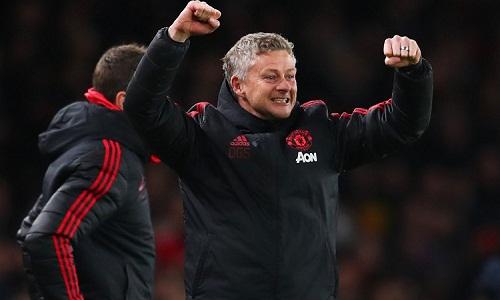Solskjaer chinh phục thêm một cột mốc mới cùng Man Utd. Ảnh: AFP.