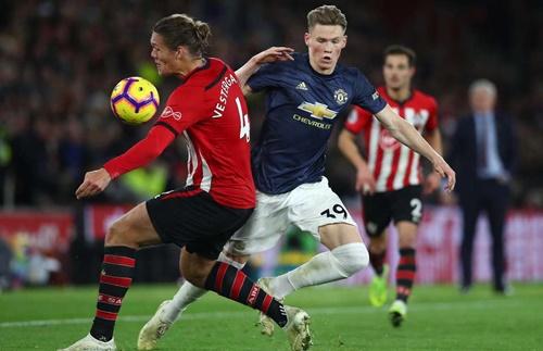 Man Utd đã hòa Southampton 2-2 ở giai đoạn một mùa này. Ảnh: PA.