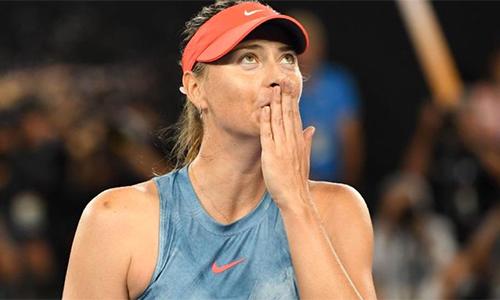 Sharapova sẽ chỉ trở lại ở mùa giải đất nện 2019. Ảnh: Sky.